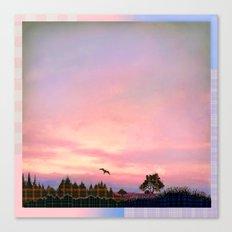 Rose Quartz and Serenity Landscape Canvas Print