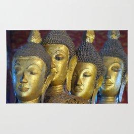 Temple Statues Luang Prabang Laos Rug