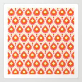 Drops Retro Sixties Art Print