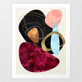 Abstract Pebbles II Art Print