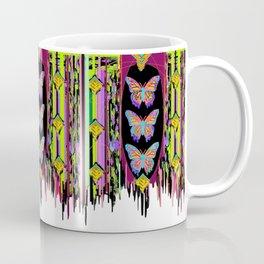 Butterfly Garden Western Style Black Fringed Shawl Coffee Mug