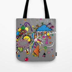 Colored Doodle Tote Bag