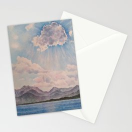 Lake Tahoe After a Summer Storm Stationery Cards