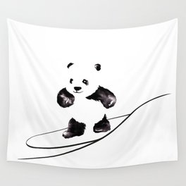 Surfing Panda Wall Tapestry