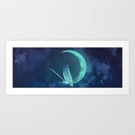 Moonowl Art Print