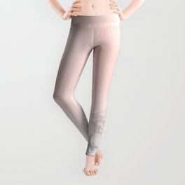 Blush Pink on White and Gray Marble III Leggings