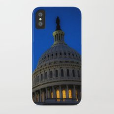 Evening behind the dome iPhone X Slim Case