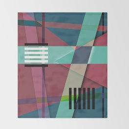 Abstract #410 Throw Blanket