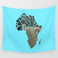 african Wall Tapestries featuring African Continent by ArtSchool