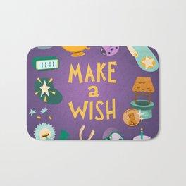 Make a wish Bath Mat