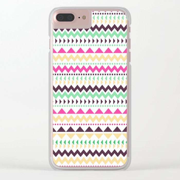 Tribal Pattern 02 Clear iPhone Case
