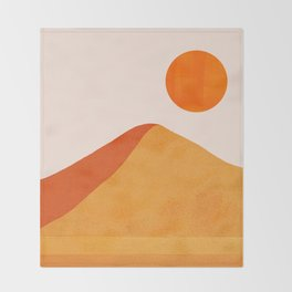 Abstraction_Mountains_SUN_Minimalism_01 Throw Blanket