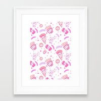 junk food Framed Art Prints featuring JUNK by bb0t