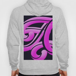 Hot Pink Colourful and Playful Letters A Hoody