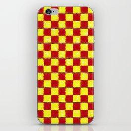 Yellow Chess iPhone Skin