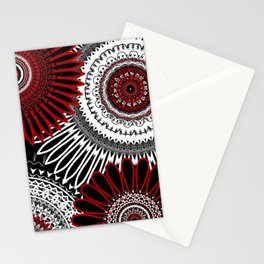 Red Mandala Love 3 Stationery Cards