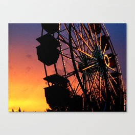 Ferris Wheel at Sunset Canvas Print