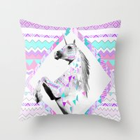 kris tate Throw Pillows featuring ▲TWIN SHADOW ▲by Vasare Nar and Kris Tate  by Kris Tate