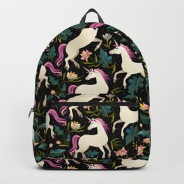 Dancing Unicorns In The Garden Fantasy Tapestry Pattern Backpack