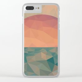 Tycho Sunrise Clear iPhone Case