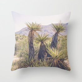 Morning in Joshua Tree Throw Pillow