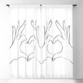 Love Heart Blackout Curtain