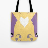 digimon Tote Bags featuring Renamon by JHTY