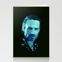 rick grimes Stationery Cards featuring Rick Grimes - The Walking Dead by Dr.Söd