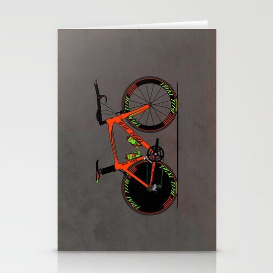 Time Trial Bike Stationery Cards