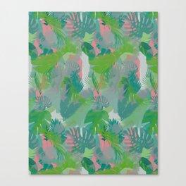 Jungle Hush Wallpaper Canvas Print