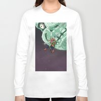 majoras mask Long Sleeve T-shirts featuring Skull Kid Majoras Mask by Aaron Pittman