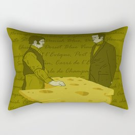 Any cheese at all? Rectangular Pillow