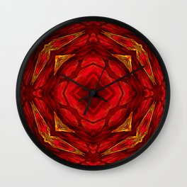 Red involvements Wall Clock