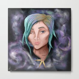 Chloe Price and Galaxy Metal Print