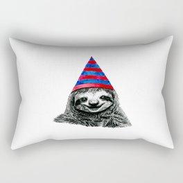 Party Sloth Rectangular Pillow