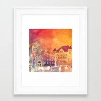 takmaj Framed Art Prints featuring street in Poznan part 2 by takmaj
