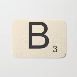Scrabble B Bath Mat