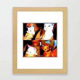 Punk Kitty/Blue Kitty Framed Art Print