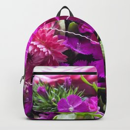 Pink flower bouquet #1 #decor #art #society6 Backpack