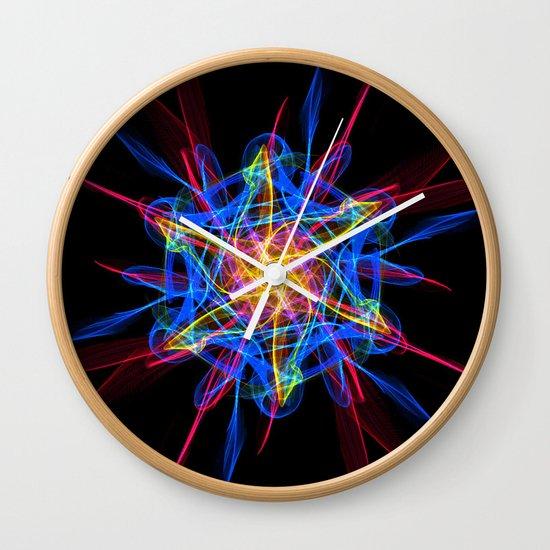 Silkweave / Neon Sigil 2 Wall Clock