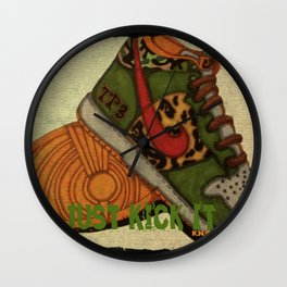 Just Kickin It! Wall Clock