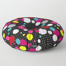 Abstract colorful polka dot pattern 2 Floor Pillow