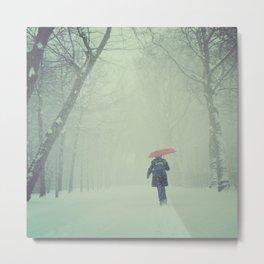 Snow in Vondelpark Metal Print