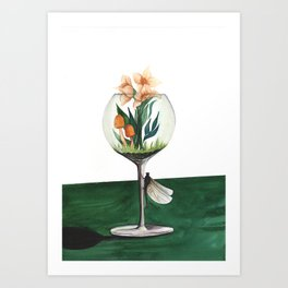 Unexpected Terrarium Dragonfly Art Print