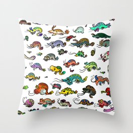 shrimp shrimp shrimp (color) Throw Pillow