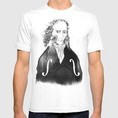 Niccolo Paganini Mens Fitted Tee MEDIUM White
