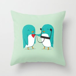 The sound of love Throw Pillow