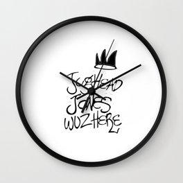 jughead waz here Wall Clock