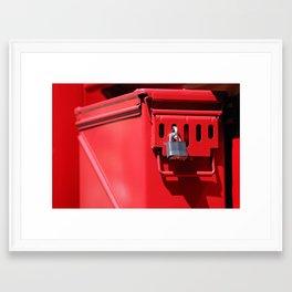 Lock and Box Framed Art Print