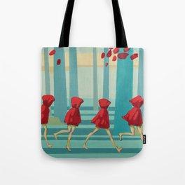 Five Little Riding Hoods I/III Tote Bag